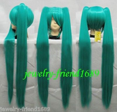 Free Shipping &gt;&gt;&gt;   New Cospaly Long VOCALOID MIKU Green Split Type Resistant Wig<br><br>Aliexpress