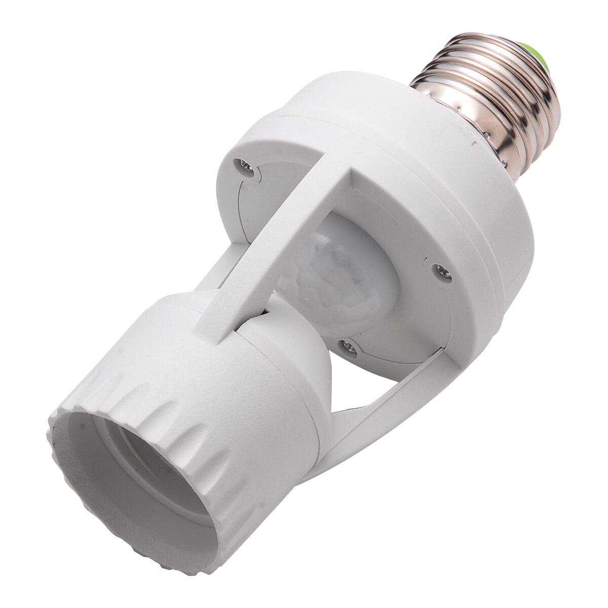 110/220V Infrared PIR Motion Sensor LED Light Lamp Bulb Holder Socket Switch Light Accessory