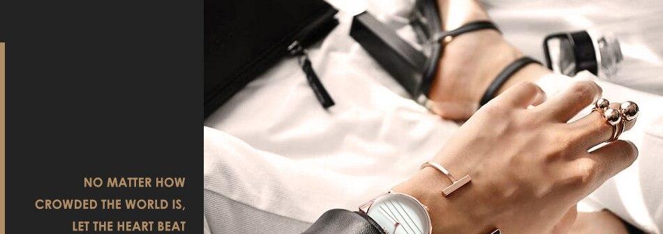 ساعة اليد سوار كوارتز  مطلية بالذهب 5