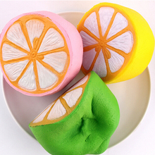 11CM Squishy lemon Soft kawaii Cute fruit Slow Rising Decoration charm Scented Bread Cake kid toy gift Phone Straps