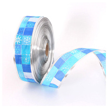 2016 Blue Santa Merry Christmas Ribbon Printed Grosgrain Ribbon Decoration For home/tree/window/garland ornament 2 m*50mm width