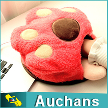 Home Office Use Cute Bear's Paw USB Heated Mouse Pad Keep warm Hand Mouse Pad In Winter(China)