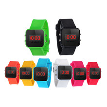 Time Date Children's Watches LED Screen Digital Silicone Strap Men's Watches Quartz Sport Kids Wrist Watch For Bady Boys Clock(China)