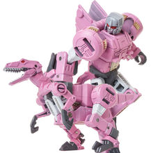 New Oversize 6 in 1 Transformation Action Figure toys cool pink Dinosaur  Model Toys ABS + Alloy Robot Toy Boy Kids adult Gifts 68cd19c6c415
