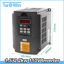 110V 1.5kw/2.2kw HY VFD Variable Frequency Drive VFD Input 1or3HP 110V Output 3HP 110V frequency inverter for Spindle Motor(China)