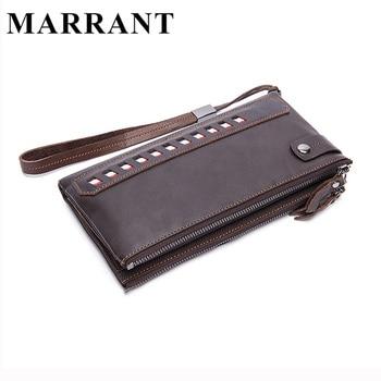 Marrant genuínos homens carteiras de couro com os titulares de cartão multi longas carteiras dos homens de embreagem homem bolsa saco masculino saco de moda carteira 9091