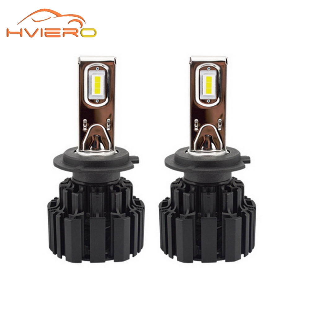2Pcs H7 100W 13600Lm IP67 Auto Front Bulb Automobile Headlamp Fog Light 6500K Car Lighting Brighter HID Xenon Light