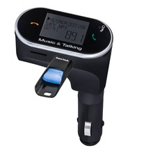 HOT Bluetooth Handsfree FM Transmitter Car Kit MP3 Music Player Radio Adapter Work with SD Card U Disk For iPhone Smartphone