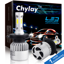 2Pcs H4 LED H7 H11 H1 H3 9005 9006 Auto Car Headlight 72W 8000LM High Low Beam Light Automobiles Lamp white 6500K Bulb(China)