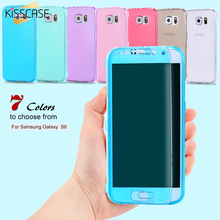 KISSCASE For Samsung S6 Cases Ultra Flip Soft TPU Gel Case For Samsung Galaxy S6 Edge Plus Slim Crystal Clear Cover S7 Edge Capa