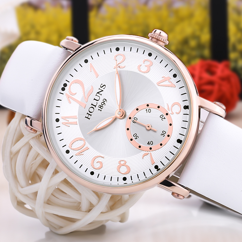 2017 Fashion trend holuns big dial Waterproof quartz Casual women watch Sapphire Stainless Steel special love gift for girl lady<br>