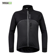 Buy WOSAWE Black Reflective Cycling Jackets Winter Thermal Fleece Windproof/Waterproof Long Sleeve Jersey Wear Cycling Clothing for $27.49 in AliExpress store