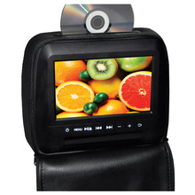 Portable 7 Inch Universal Car Headrest DVD Player with HDMI 1024x600 LCD Screen Backseat Monitor Full Functional Remote Control