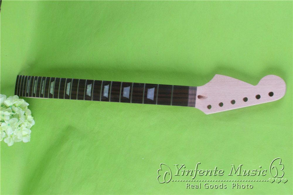 one LEFT  unfinished  Guitar neck electric guitar neck Solid wood 24 fret New   ROSEWOOD FINGERBOARD<br><br>Aliexpress