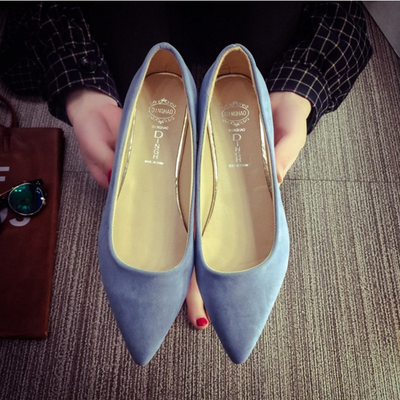 The new 2017 spring OL Europe and women shoes pointed suede sexy shallow mouth flat shoes women fashion shoes 15<br><br>Aliexpress