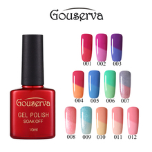 Hot Sale New brand Gouserva gel Luck UV Gel Nail Polish 10ml LEd Temperature Change Gel Nail Varnish UV LongLasting Gel Nail Art