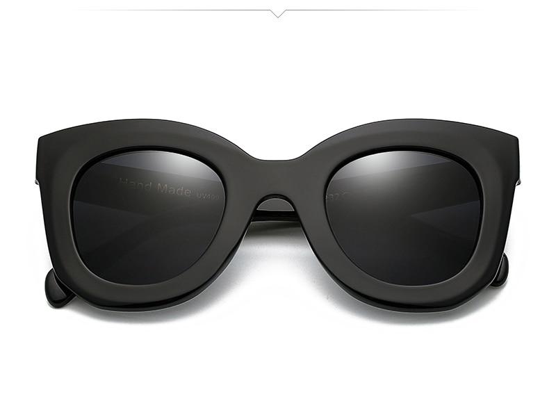 VMOERS Ladies Oversized Butterfly Sunglasses Women Retro Rivet Shades Oculos Female Black Plastic Sun Glasses For Women Brand