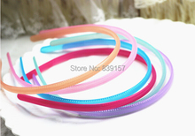 24pieces/lot Fashion simple candy color headbands hair accessory headwear semitransparent plastic head bands