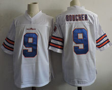 The Waterboy #9 Bobby Boucher Movie Jersey Stitched White Orange Football Jerseys For Men S-XXXL Free Shipping