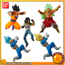 "Japan Anime ""Dragon Ball SUPER"" Original BANDAI Gashapon Figure Battle VS 05 - Full Set of 5 Pcs Goku Broly Vegeta Android 17(China)"