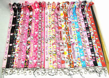 1 PCS Hello Kitty key lanyards id badge holder keychain straps for mobile phone Free Shipping