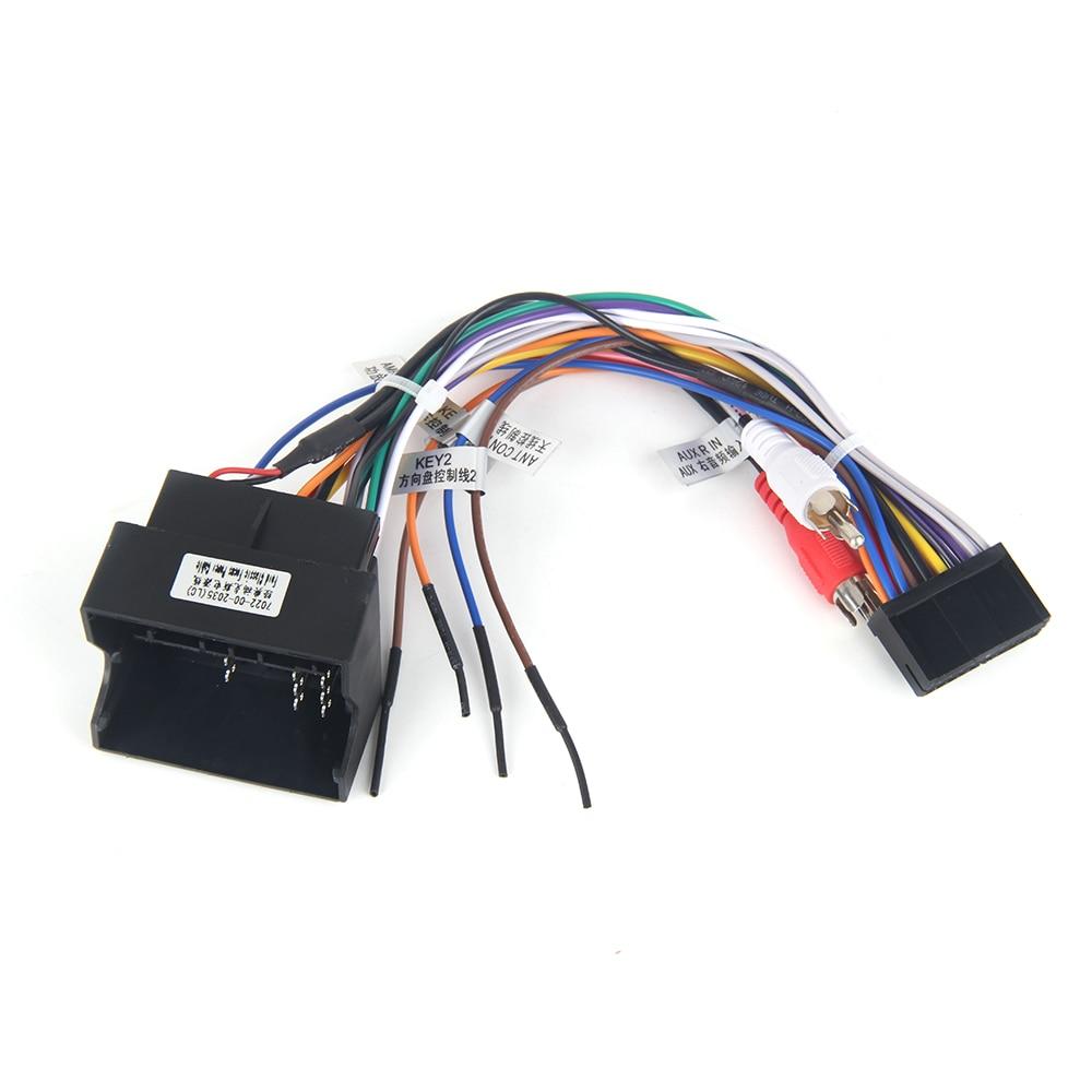 Auto radio ISO adaptador cable para Ford mondeo Fusion Galaxy Kuga tránsito Focus