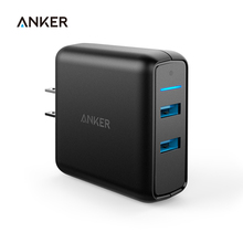 Anker Quick Charge 3.0 39W Dual USB Wall Charger PowerPort Speed 2 for Sumsung Galaxy,PowerIQ for iphone ipad LG Nexus HTC etc(China)