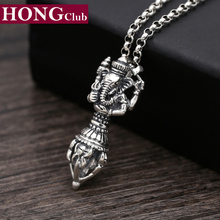 Men Necklace 100% Real 925 sterling silver Elephant gods Instruments Pendant Chain Necklace Gift Women jewelry 2017 N10(China)