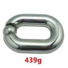 Buy Heavy Ball Stretcher Scrotal Bondage Stainless Steel Metal Cock Cage Penis Ring Male Chastity Devices Fetish Sex Toys Men