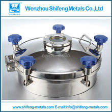 Diameter 400mm stainless steel sanitary sight glass manhole cover(China)