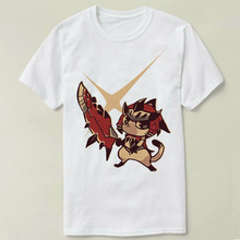 poke monster Hunter M.H new t shirt man cotton Short sleeve fashion summer printing Casual o-neck Men T-shirt cmt(China)