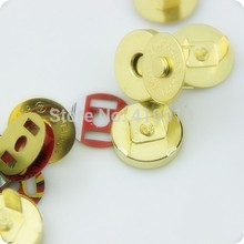 Free shipping -20 Sets Gold Buttons Magnetic Purse Snap Clasps/ Closure for Purse Handbag 14mm D2750