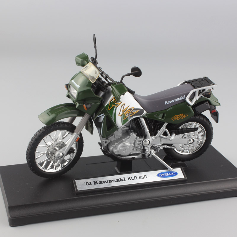 1:18 scale Children's mini metal 02 KAwasaki KLR 650 model dual sport motorcycle moto bike toys racing Diecasts Rally for boys(China)