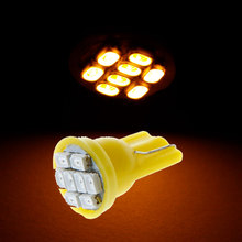 4Pcs/lot 1206 SMD 8 LEDs T10 Led Yellow Car T10 168 194 W5W Side Wedge LED Turn Light Vehicle Turn Lamp Stop Bulb(China)