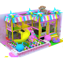 customized made amusement playground equipment for kids sweety candy indoor castle toy factory manufacturer YLW-IN17002q