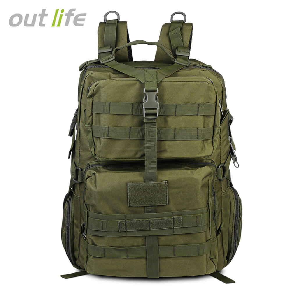 50l Large Capacity Men Travel Backpack Outdoor Hiking Backpacks Waterproof Nylon Military Tactical Backpack Mochila Tactica M65 Camping & Hiking Sports & Entertainment