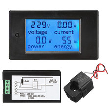 Voltmeter Digital AC 80 ~ 260V 100A/ With Open-close CT Voltage Meter  Watt Power Energy Current Amp Meter LED Panel Monitor
