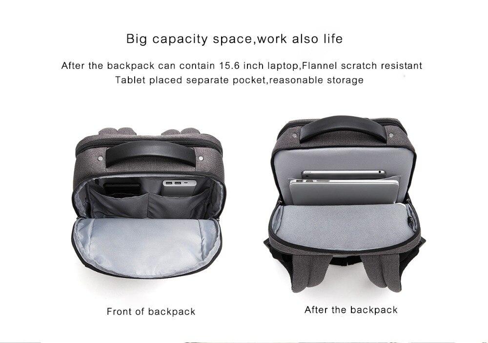Xiaomi Fashion Commuting Waterproof backpack Removable Front Bag Big Capacity men backpacks travel backpack Laptop Bag male H0 (33)