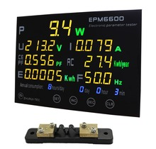 EPM6600 20A/ 6kw  single phase AC watt meter digital kwh meter power analyzer /with multi-color LED displayer
