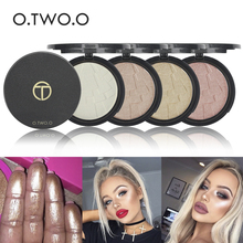 Brand O.TWO.O Glow Kit Powder highlighter Maquillage Imagic Illuminator Brightening Face Baked Highlighter Powder(China)