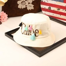 2017 New Brand Designer Denim Jean Bonnie Caps Women Summer Sun Hats Leopard Female Hats for Summer Spring Fringe Bucket Hat