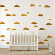 Cartoon Clouds Wall Stickers Home Decoration Baby Nursery Wall Decals For Kids Rooms Modern DIY Vinyl Sticker Mural