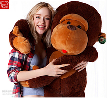 "43""GIANT HUGE BIG JUMBO STUFFED ANIMAL SOFT MONKEY PLUSH TOYS 110CM"