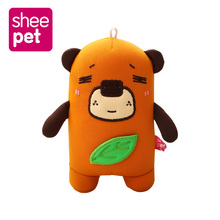 Sheepet 13cm Angry Bear Animal Stuffed Plush Toy Brown Figure Doll Child Christmas Gift Toys(China)