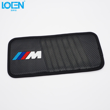 LOEN 1PC Car Sun Visor Card Case CD Storage Bag Holder Black For BMW audi toyota chevrolet hyundai honda kia vw ford(China)
