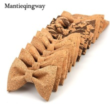 Mantieqingway Personality Corkwood Bow Ties For Men Wedding Neckwear Accessories Novelty Handmade Solid Good Wood Bowtie Cravat
