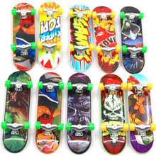 10pcs random Fingerboard Tech Decks 96mm mini Skateboard Original boys toy Plan B Element Blind DGK Zoo YorK Flip Birdhouse(China)