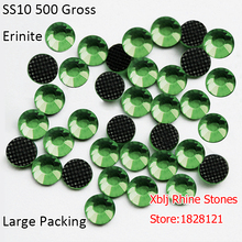 Bulk Packing 500 Gross Original Production 3mm SS10 Erinite Heat Transfer Design Glass Strass Stones DMC Hotfix Rhinestones