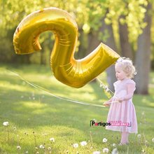 Buy 1pcs/lot 40inch Gold Number Balloon Aluminum Foil Helium Balloons Birthday Wedding Party Decoration Celebration Supplies for $1.35 in AliExpress store