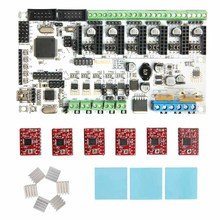 Geeetech hot sale 3d printer control board kits Rumba + 6 X A4988 stepper driver+ 3XHeatsink + sticker free shipping(China)